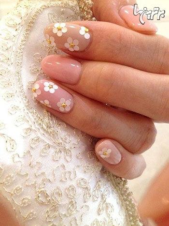 عکس هایی از طرح های زیبای ناخن ویژه عروس خانم ها