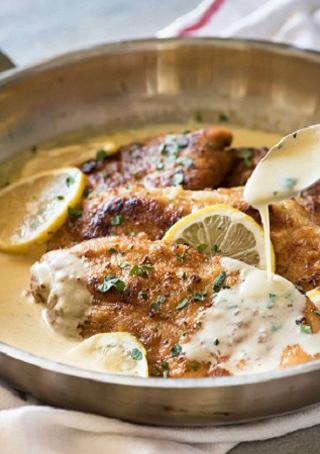 طرز تهیه مرغ با سس لیمو و خامه