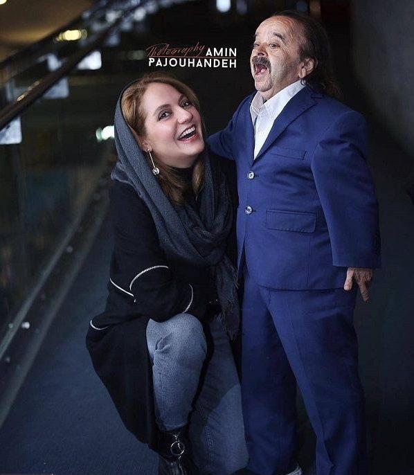 دو عکس خفن و جنجالی مهناز افشار در غوش بازیگر مرد