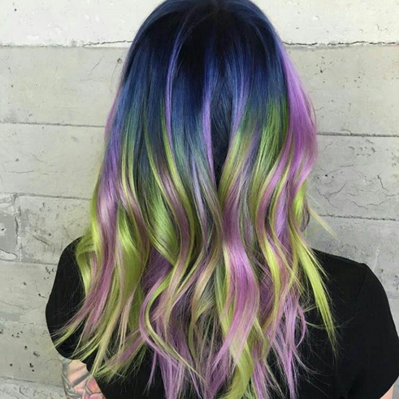 انواع رنگ موی جدید فانتزی رنگ سال