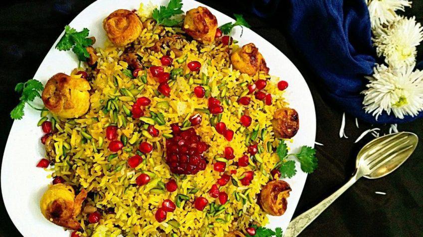طرز تهیه انار پلو شیرازی خوشمزه