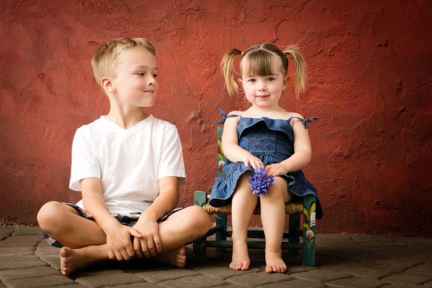 ژست عکاسی بچه گانه؛ ژست عکس کودک دختر و پسر
