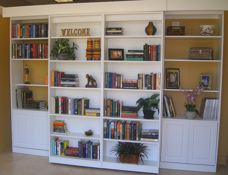 مدل کتابخانه چوبی و ام دی اف در طرح های متنوع و فانتزی
