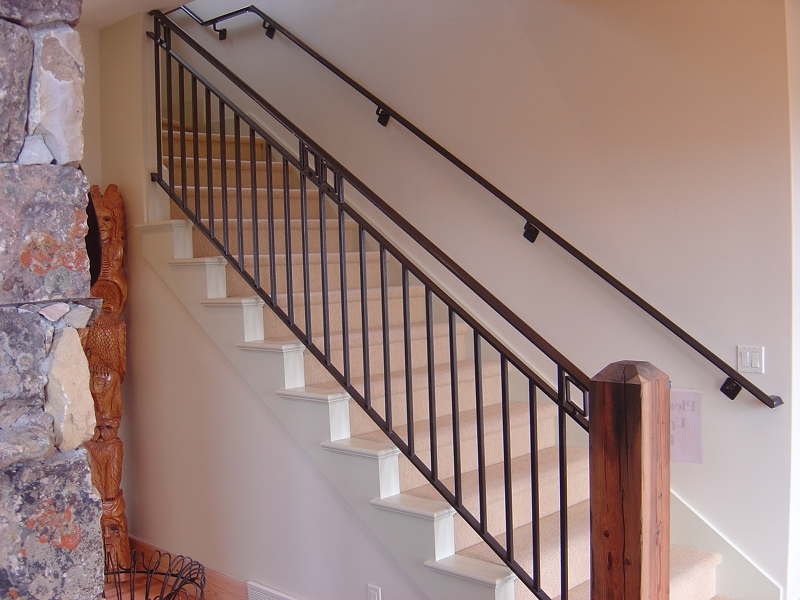 ایده های خلاقانه و زیبای نرده راه پله فلزی و چوبی
