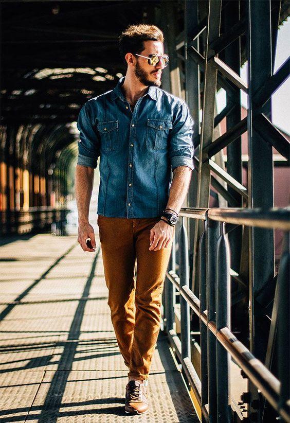 مدل پیراهن جین مردانه