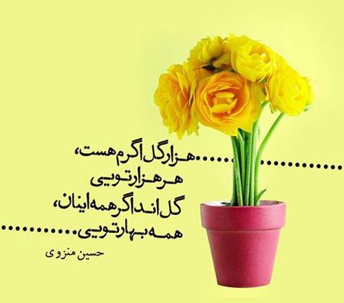 متن عاشقانه بهاری | جملات زیبا در مورد بهار | عکس نوشته های فصل بهار