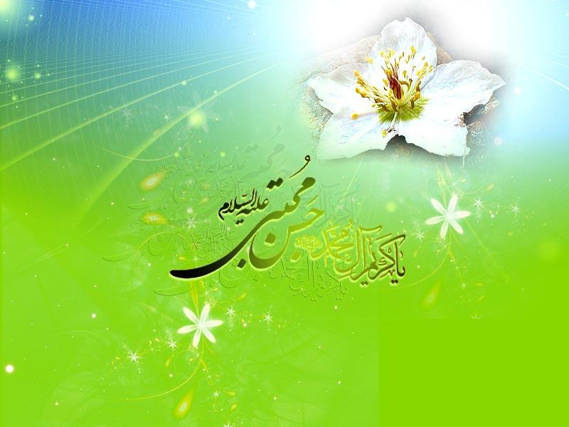 عکس نوشته تبریک ولادت امام حسن