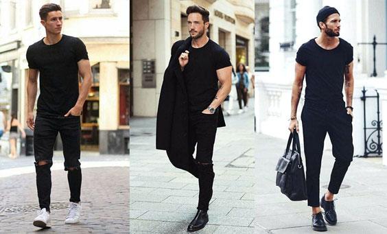 مدل های تیپ مشکی مردانه