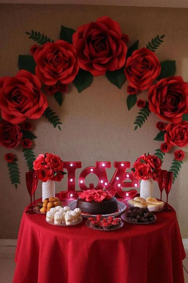 تزیین میز تولد همسر