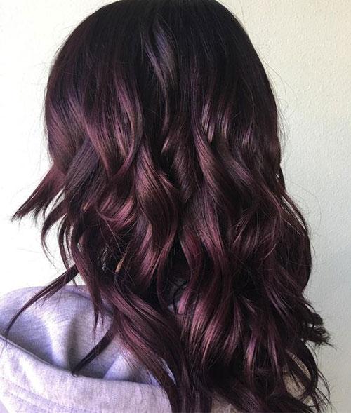 رنگ مو بادمجانی
