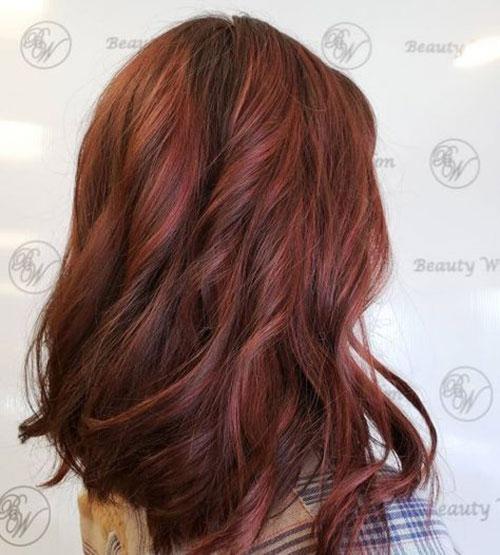 رنگ مو بلوطی