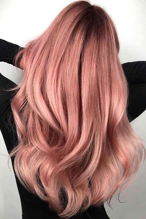 رنگ موی رزگلد