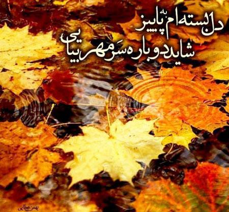 عکس نوشته خزان