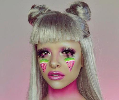 مدل آرایش چشم شب یلدا