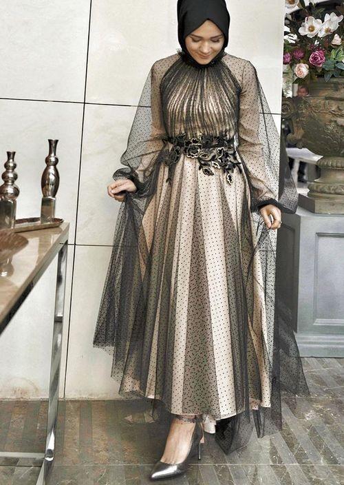 مدل لباس مجلسی آستین پفی