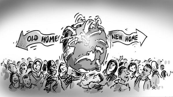 متن در مورد مهاجرت