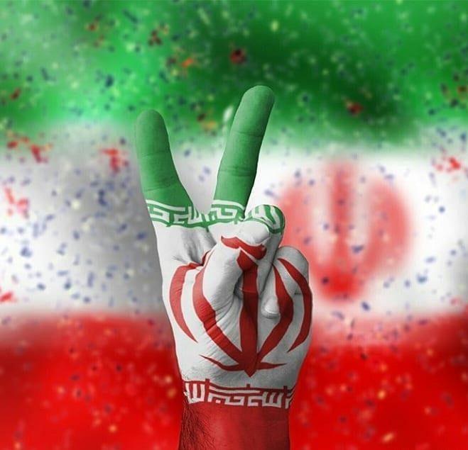 عکس نوشته ایران و پرچم کشورمان