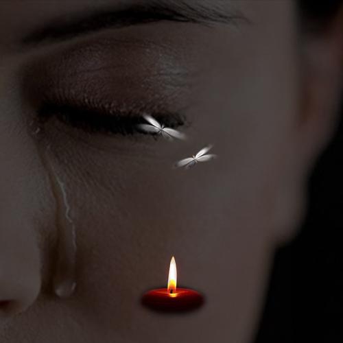 عکس پروفایل شمع و اشک