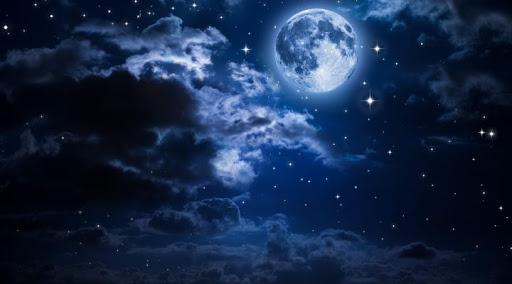 متن ادبی در مورد ماه و آسمان