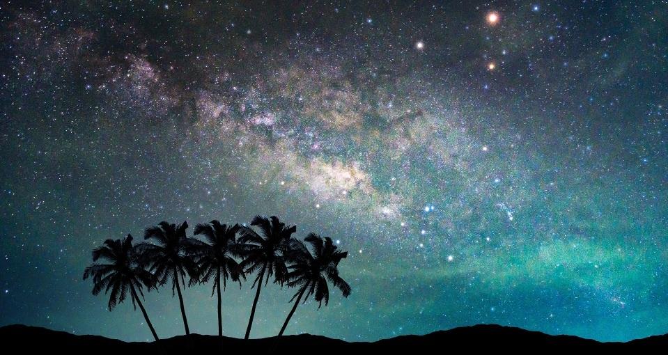 انشا آسمان شب