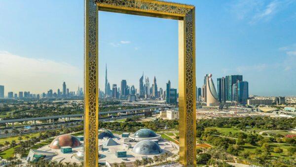 """""""بزرگترین قاب عکس جهان"""" در دبی"""